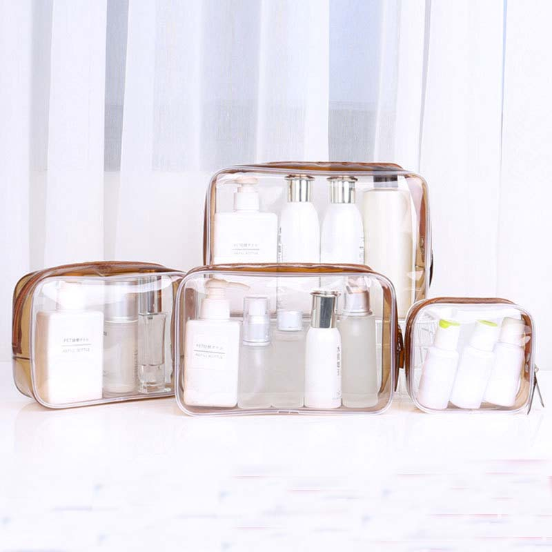 1PCS Women Travel Clear Makeup Bag Organizer Transparent PVC Cosmetic Bags Beauty Toiletry Make Up Pouch Wash Storage Bags