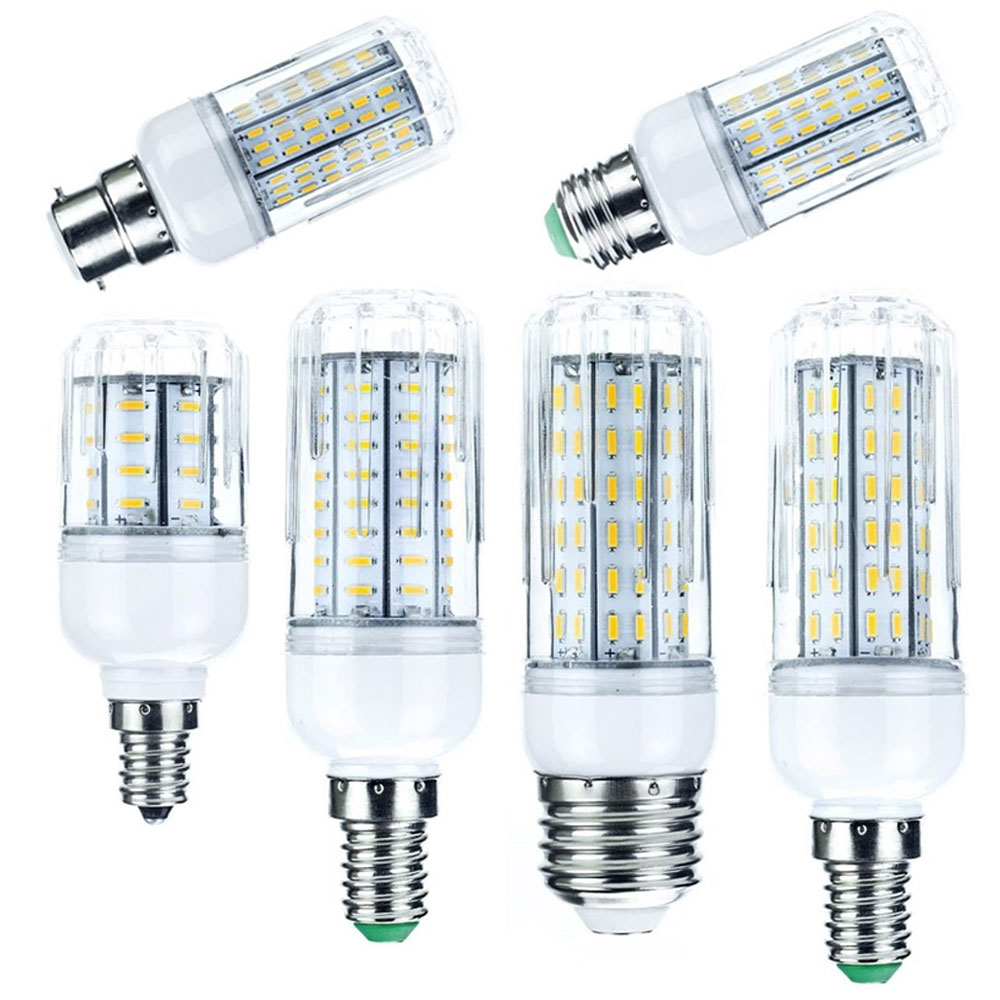 Bright LED Corn Light Bulbs E14 B22 E27 GU10 10W 20W 25W 30W 36 72 96 138LEDs 4014 SMD Lamps Ampoule AC 110V 220V Light Lighting