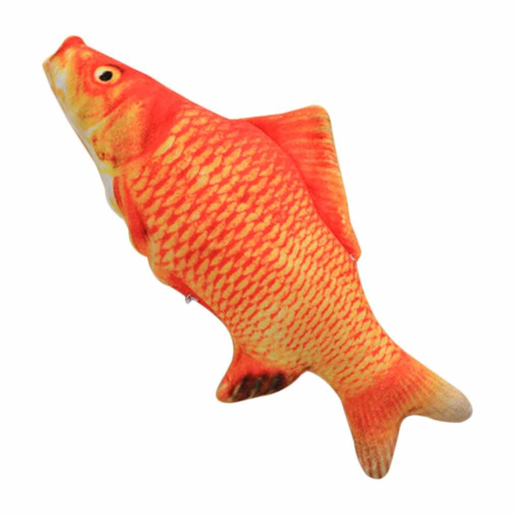 20cm catnip catmint 고양이 호의 시뮬레이션 물고기 고양이 장난감 물고기 모양 긁는 포스트 애완 동물 제품 공급을위한 짧은 견면 벨벳