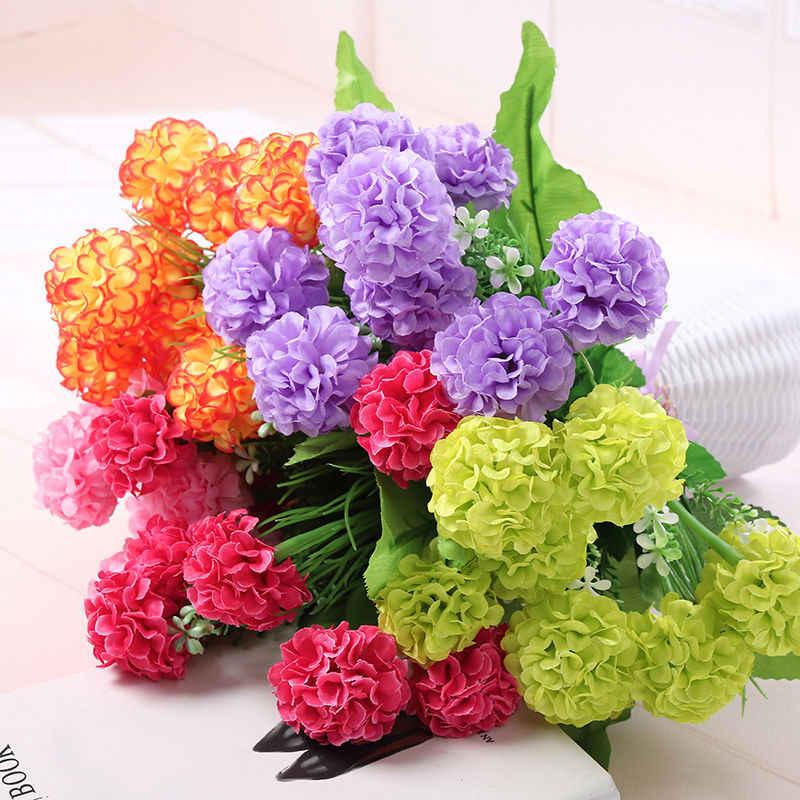 1 Bunch 28 Head Artifical Silk Chrysanthemum Flower Bouquet Party Wedding Decor=
