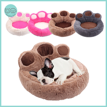 Cat Bed Sofa Kennel Puppy-Beds Washable Round Bed-Mat Dogs Fluffy Small Warm Large Pet