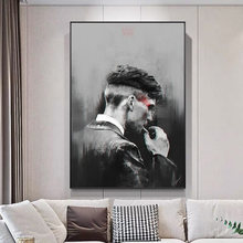 Movie Black and White Personality Mural Canvas Painting Poster Family Interior Room Bedroom Wall Decoration Art (no Frame)