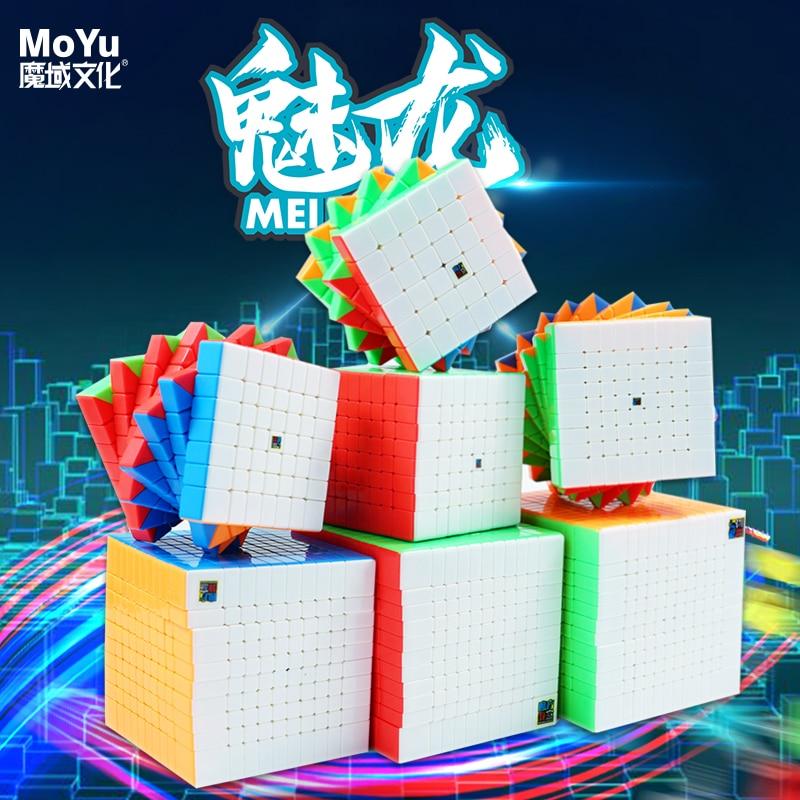 MoYu Meilong 6x6 7x7 9x9 10x10 11x11 12x12 Stickerless Meilong-Magic-Cube High level Speed Puzzle Cubes Game Cubo Magico