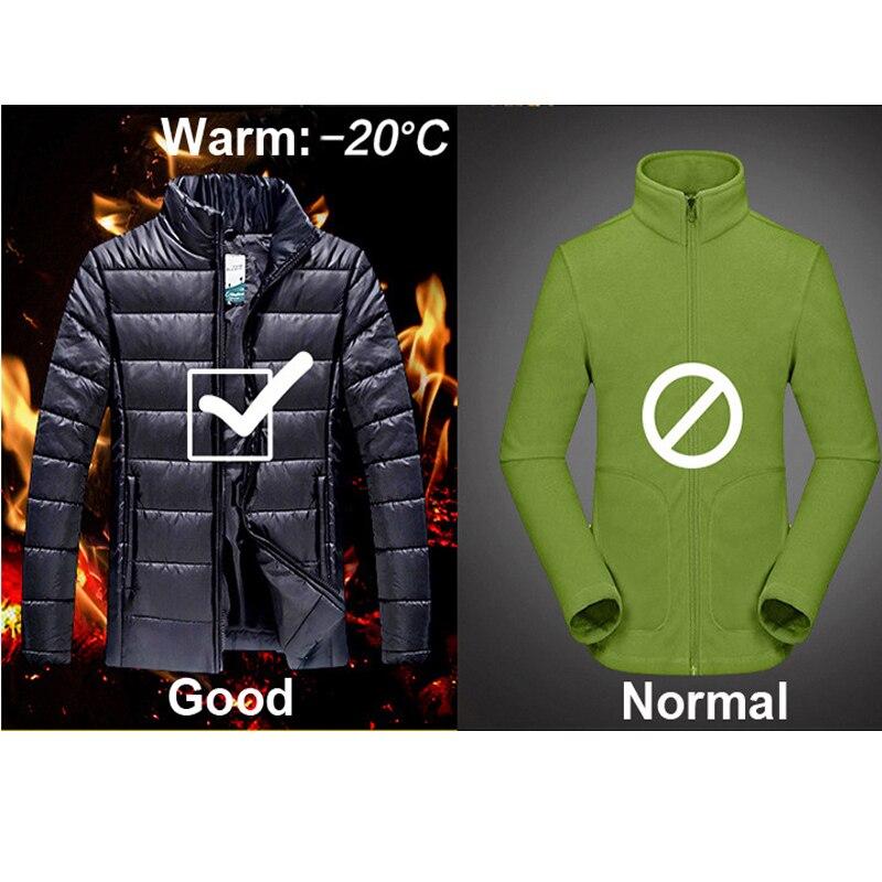 Hombre invierno impermeable peces Trekking senderismo campamento esquí subir cálido de talla grande 3 en 1 algodón al aire libre chaquetas Softshell pantalones traje - 3