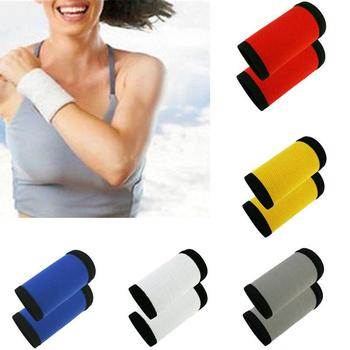 2 Pcs Sports Bracers Nylon Anti-Sweat Belt Fitness Running Compression Wipe Anti-Hun Sprain Protective Gear Unisex