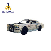 Buildmoc City Classic 1967 Eleanor Mustang RC Technic Racing Car fit MOC 14616 Building Block Brick Toys Kid adult Birthday Gift