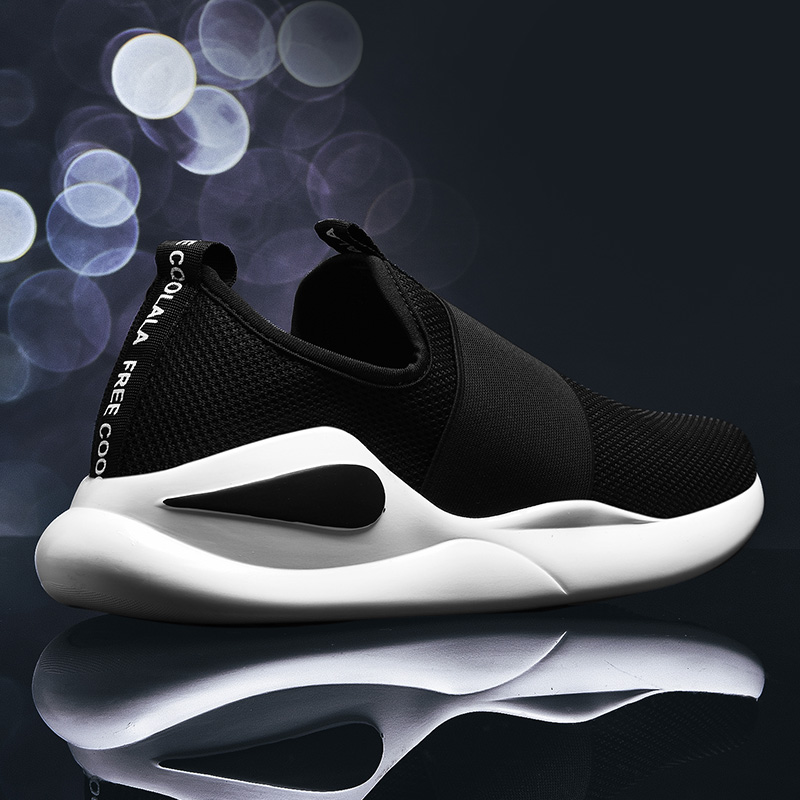 Damyuan 2020 New Fashion Autumn Men Flyweather Comfortables Breathable Non-leather Casual Lightweight Slip-on Size 46 Mesh Shoes