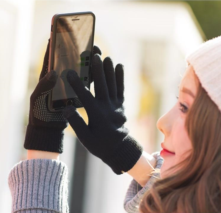 Men Women Winter Warm Gloves Touch Screen Mobile Phone Smartphone Gloves Driving