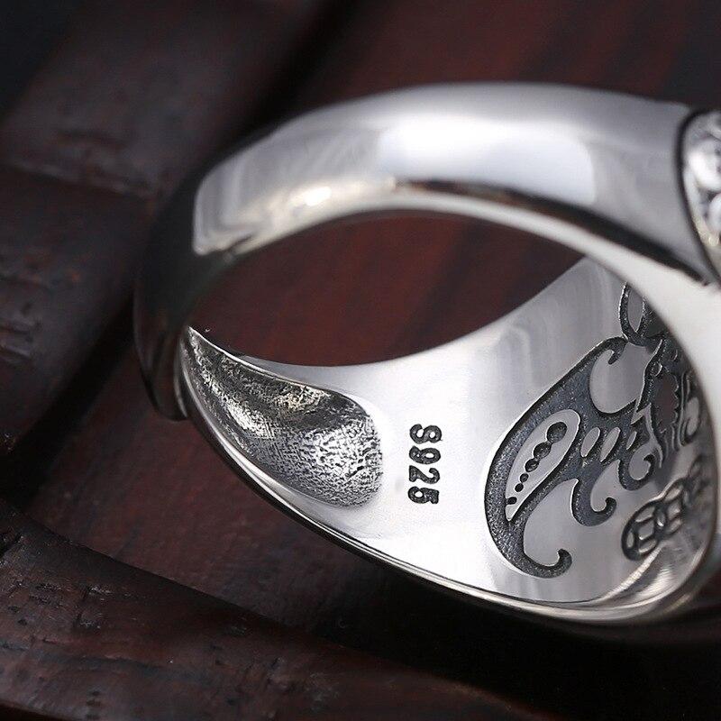 2019 Tai Chi potins zodiaque anneau réglable 100% pur 925 argent Sterling pour hommes bague de fiançailles bijoux fins cadeaux d'anniversaire - 4