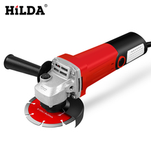 цены HILDA 1100W Angle Grinder Grinding machine Electric Grinding Machine Power Tool Grinding Cutting Grinding Metal