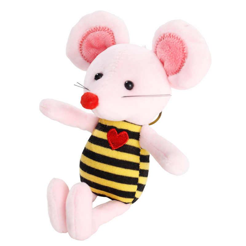 Yeni anahtarlık anahtarlık anahtarlık Porte Clef kolye sırt çantası çanta aksesuar çanta uğuru peluş fare oyuncak çocuklar için 0 ila 3 yıl