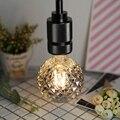 Lâmpadas led edison filamento do vintage 4 w fumaça de vidro 220/240 v e27 cristal lâmpadas decorativas (g95 cristal)