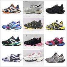 Novo 20 cores malha tripla tênis esportivos das mulheres dos homens tênis de corrida track trainer ao ar livre jogging andando calçados ue 36-45 vendas