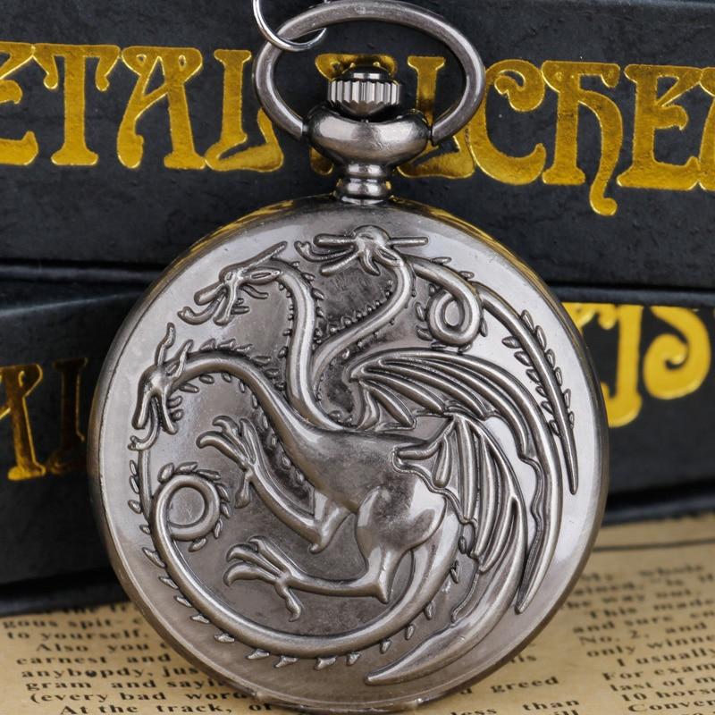 Oyun tema EngravedQuartz Cep saati erkekler kadınlar kolye kolye hatıra Cep saati