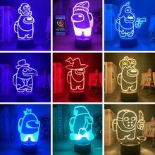 Lámpara acrílica con luz LED 3d para dormitorio, decoración del hogar, regalo