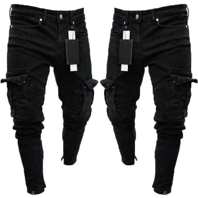 Long Pencil Pants Ripped Jeans Slim 5