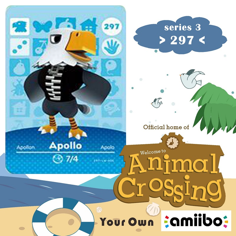 297 Animal Crossing Amiibo Card Apollo Amiibo Card Animal Crossing Series 3 Apollo Nfc Card Work For Ns Games Fast Shipping
