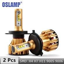 Oslamp H4 H7 LED Bóng Đèn Pha H11 9005 9006 Chip SMD 70W 7000LM 6500K Đèn Led Xe H1 Tự Động đèn Pha Đèn Pha Led 12V 24V