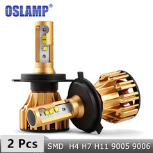 Oslamp H4 H7 żarówki LED do reflektorów H11 9005 9006 chipy SMD 70W 7000LM 6500K samochodów Led H1 reflektor samochodowy reflektory Led 12v 24v