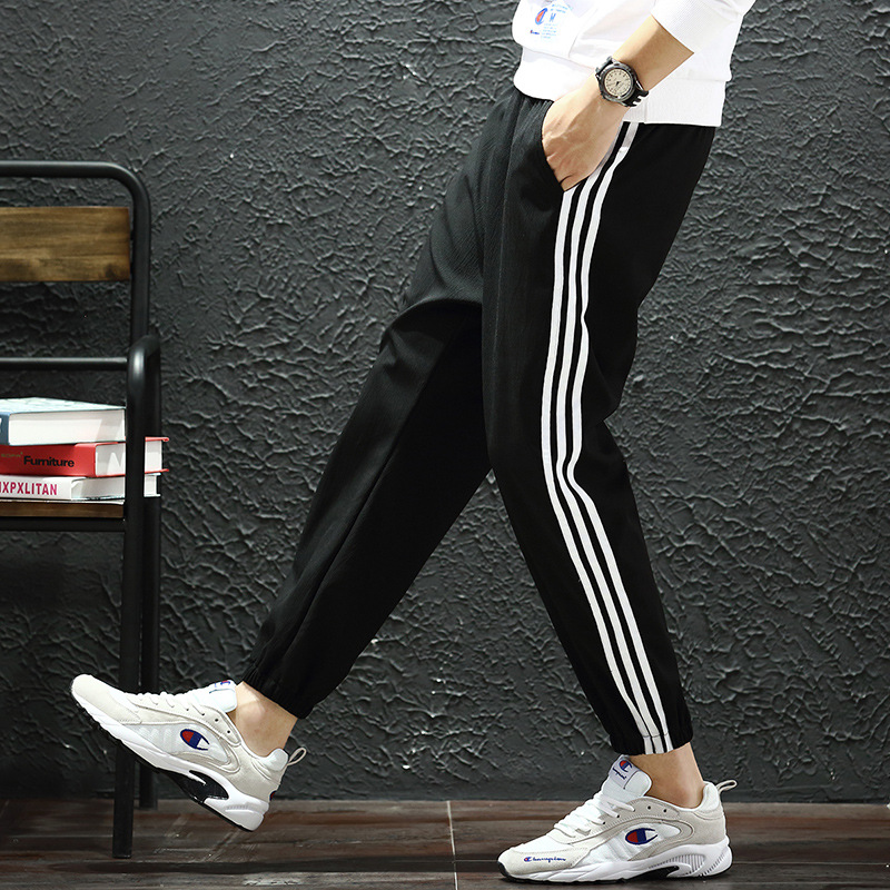 Fashion Casual Printed Pants Men Korean-style Trend Spring And Autumn Popular Brand 2019 New Style Loose-Fit Sports Ankle Banded