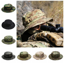 Military Tactical Cap Men Camouflage Boonie Hat Sun Protector Outdoor Paintball Airsoft Army Training Fishing Hunting Hiking Cap(China)