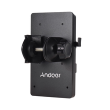 Andoer V הר V V נעילת הסוללה אספקת חשמל מתאם מערכת d tap מחבר W/קלאמפ עבור sony מצלמה BP סוללה