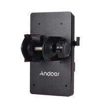 Andoer v montagem v lock bateria placa adaptador de alimentação sistema d tap conector com braçadeira para sony câmera bp bateria