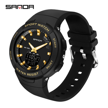 цены digital watch for women led watch clock ladies waterproof electronic watch sports diving black men dual display wristwatches