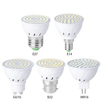Bombilla LED GU10 E27 E14, 48, 60, 80, 220V, GU10, MR16