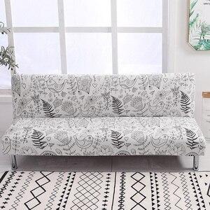 Image 1 - Evrensel kolsuz çekyat örtüsü katlanır Spandex koltuk slipcover streç kapakları ucuz kanepe koruyucu elastik Futon kapak