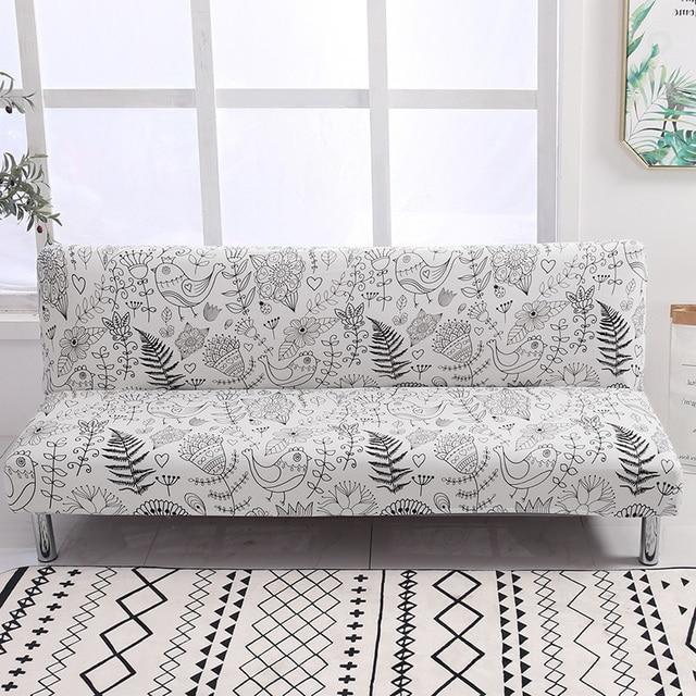 Evrensel kolsuz çekyat örtüsü katlanır Spandex koltuk slipcover streç kapakları ucuz kanepe koruyucu elastik Futon kapak