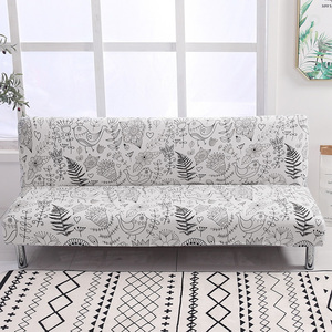 Image 1 - Universal Armless Sofa Bed Cover Folding Spandex seat slipcover stretch covers cheap Couch Protector Elastic Futon Cover
