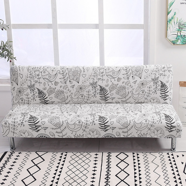 Universal Armless Sofa Bed Cover Folding Spandex seat slipcover stretch covers cheap Couch Protector Elastic Futon Cover