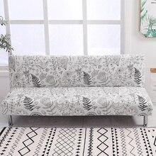Uniwersalne pokrycie sofy bez podłokietników składane elastan pokrycie siedzenia pokrowce na rozciąganie tanie ochraniacz na kanapę elastyczny pokrowiec Futon