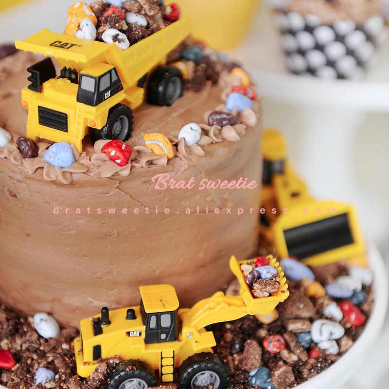 Suministros para fiestas de cumpleaños con Topper de tartas en construcción