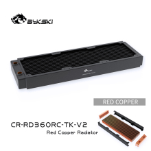 Copper Radiator Cooler 360mm Heat-Dissipation Bykski for 12cm Fan CR-RD360RC-TK-V2 40mm-Thickness