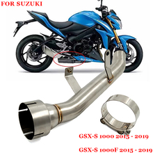 For Suzuki GSXS1000 GSX S1000F GSX S1000 2015 2019 Years Motorcycle Exhaust System Modified Middle Intermediate Connecting Pipe