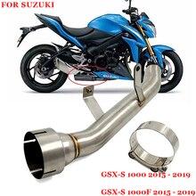 לסוזוקי GSXS1000 GSX S1000F GSX S1000 2015 2019 שנים אופנוע פליטה מערכת באמצע שונה ביניים חיבור צינור
