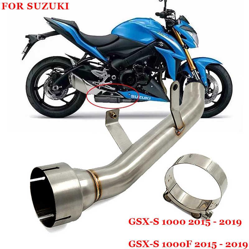 Untuk Suzuki GSXS1000 GSX-S1000F GSX S1000 2015-2019 Tahun Sistem Pembuangan Dimodifikasi Tengah Kursus Menghubungkan Pipa
