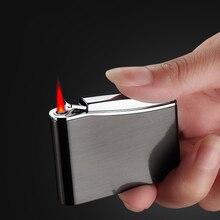 Retro Metal Press Torch Jet Lighter Portable Gas Lighter Butane Cigar Lighters Windproof Cigarette Accessories Gadgets For Men classic retro style windproof zinc alloy butane jet lighter golden