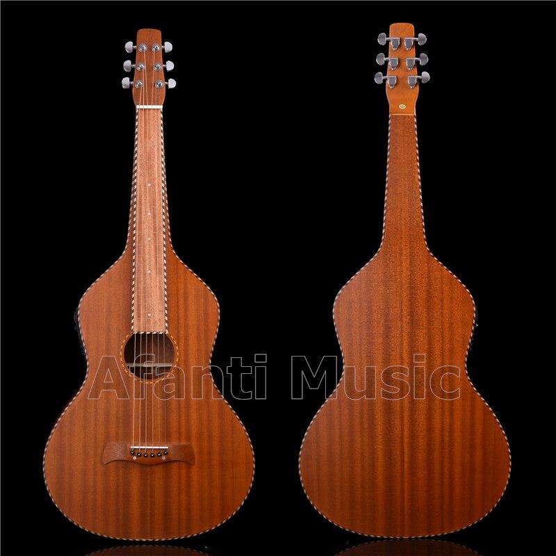 Afanti musique tout Sapele bois Weissenborn hawaïen guitare à glissière (HG-735)