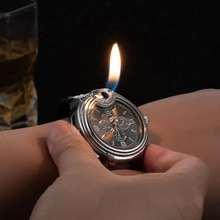 Military Lighter Watch Novelty Quartz Sports Refillable Gas Clock Men's Watches Rubber