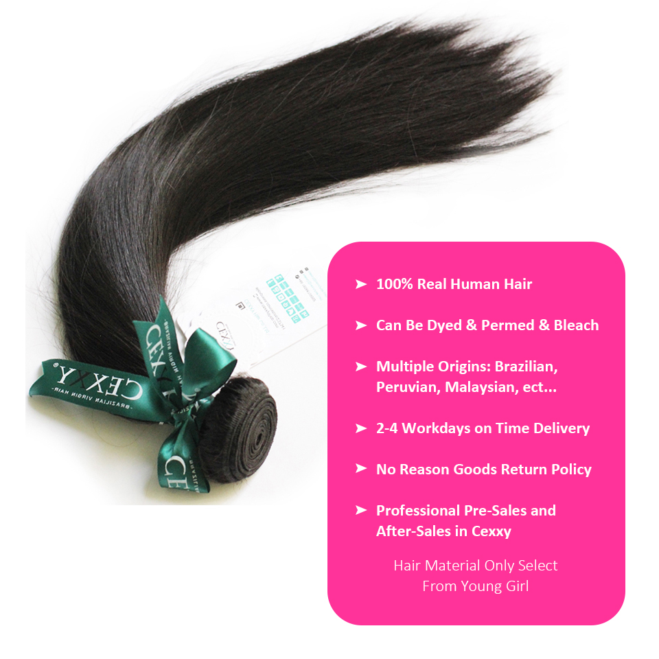 Image 2 - CEXXY 12A Mink Hair Unprocessed Virgin Young Girl Human Weave Virgin Hair Straight Brazilian Hair Weave Bundles Natural Colorhair straighthair weavehair weave bundles -
