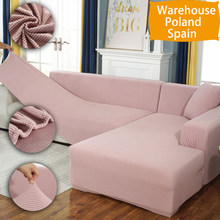 Housse de canapé élastique en tissu en peluche solide L forme canapé couvre velours pour salon housse de canapé extensible