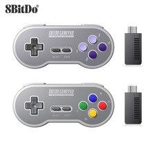 8bitdo – manette de jeu sans fil SF30 SN30, contrôleur de jeu avec NES 2.4 ghz, pour Android, PC et Mac