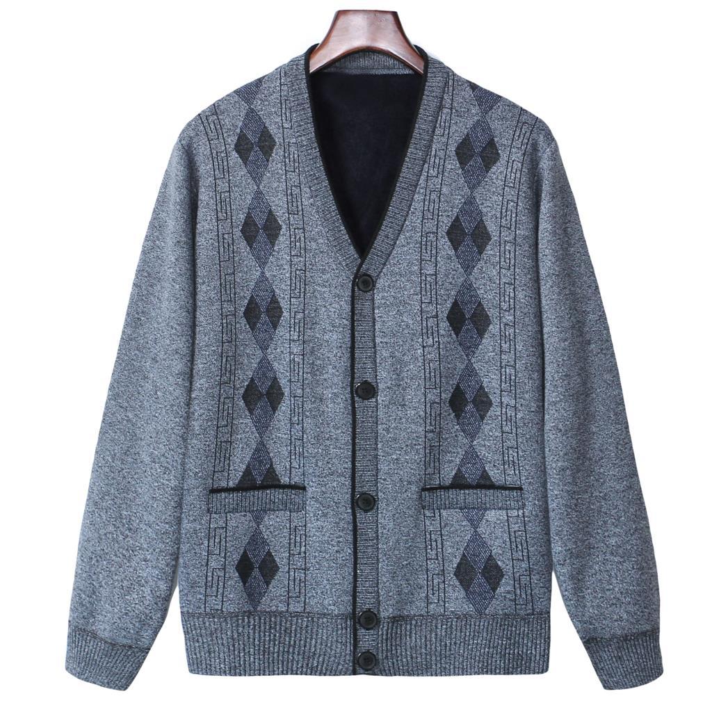 Laamei Vintage Sweater cardigan Men Pockets Sweater Coats Windbreaker Warm Fashion Cardigan Men Sweaters