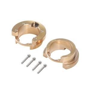Image 2 - 4pcs TRX4 Brass Counterweight Portal Drive Axle Balance Weight for 1/10 RC Crawler Car Traxxas TRX 4 Upgrade Parts