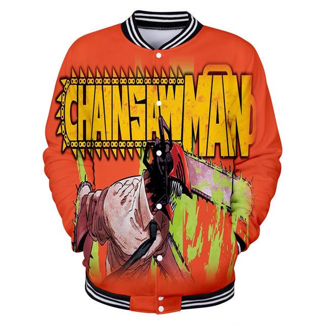 CHAINSAW MAN THEMED 3D BASEBALL JACKET