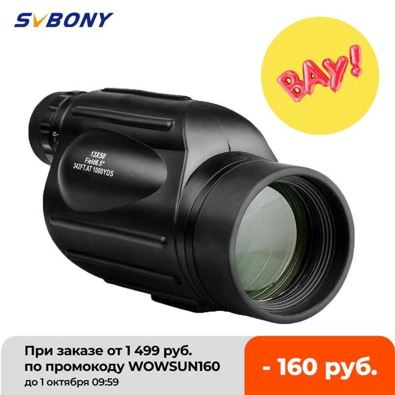 Svbony SV49 – lunettes monoculaires 13×50, puissantes, professionnelles, longue portée, pour voyage, chasse, Camping, avec dragonne