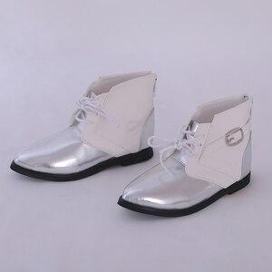 Image 1 - Ayakkabı bebek BJD kahverengi PU deri moda Mini oyuncak erkek erkek ayakkabıları 1/3 bebek için IP Hid ID72 bebek aksesuarları luodoll